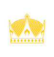 royal crown sign king hat ruler cap vector image vector image