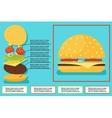 Sandwich burger hamburger ingredients structure vector image