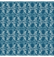 Seamless pattern with abstract damask doodle vector image