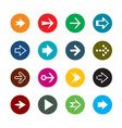 set of color arrows collection of buttons vector image vector image