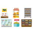store furniture cartoon set vector image