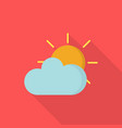 sunshine icon set of great flat icons with style vector image vector image