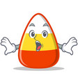 surprised candy corn character cartoon vector image