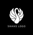 swan logo sign emblem-07 vector image