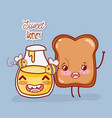 sweet honey and toast vector image