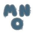 torn denim letters vector image vector image