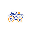 tractor transport line icon agriculture farm vector image