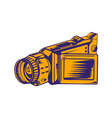 Video Camera Recorder Woodcut vector image vector image
