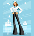 woman sailor on sea background vector image