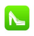 women shoes on platform icon digital green vector image vector image
