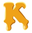 Letter K from honey icon vector image