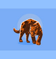 a panther or a leopard vector image vector image