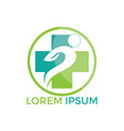 abstract medical logo design vector image vector image