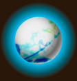 abstract planet with glowing vector image vector image