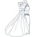 ball dance cinderella and prince vector image