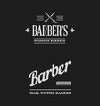 barbershop set of labels or emblems vector image vector image