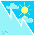 blue sky and sun day concept vector image vector image