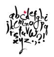 Calligraphical Latin Alphabet vector image
