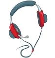 cartoons headphone vector image