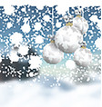 Christmas baubles on a defocussed winter landscape vector image vector image