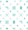 close icons pattern seamless white background vector image vector image