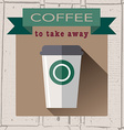 coffee house logo in flat design style on vector image vector image