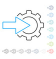 Cog integration contour icon