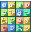 Collection of cogs and gears icons set vector image vector image