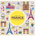 country france travel vacation guide of goods vector image