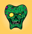 dental teeth zombie halloween vector image vector image