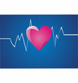 depicting a graph from a heart beat vector image vector image