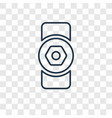 doorknob linear icon isolated on transparent vector image
