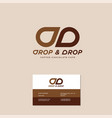 double d monogram drop chocolate vector image vector image
