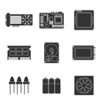 Electronic parts icons vector image