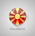 European flags set - Macedonia vector image vector image