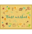Floral greeting card with text Best wishes vector image vector image