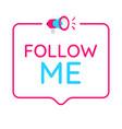 follow me badge icon logo concept for social vector image