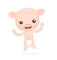 funny cartoon pig vector image vector image