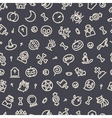 Halloween Seamless Pattern With Icons Dark vector image vector image