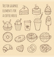 hand drawn - collection of vector image vector image