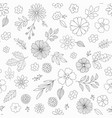 hand drawn floral pattern with flowers vector image vector image