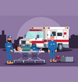 healthcare providers provide assistance in an vector image