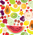 Healthy lifestyle Fruits on white background vector image vector image