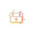 hospital calender date day icon design vector image vector image
