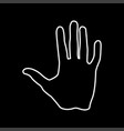 human hand it is icon vector image vector image