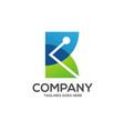 k letter technology trend logo design vector image