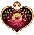 Large red romantic vintage heart vector image