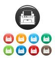 laser printer icons set color vector image vector image