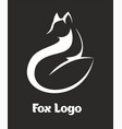 logo fox fox sitting and looking away vector image