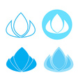 Lotus flower spa and beauty logo vector image vector image